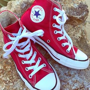 🍓Converse Red High-Top Sneakers🍓